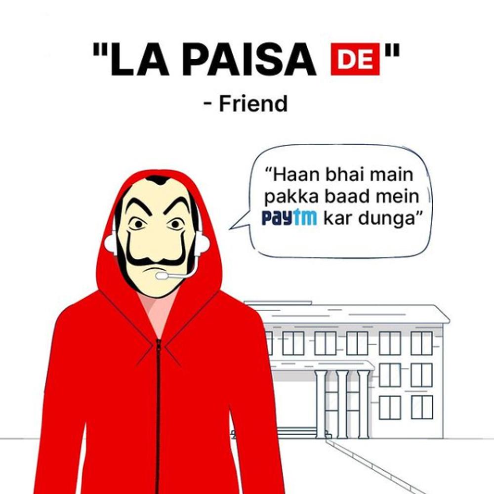 memes post as social media strategy of paytm